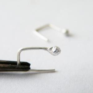 Tiny Sterling Silver Stud Earrings ..