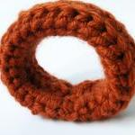 Crochet Bangle Merino Wool Rusty Fa..