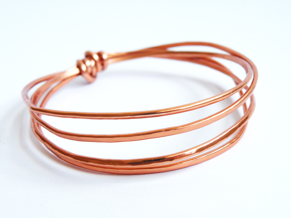 Hammered Aluminum Copper Color Bangles Minimalist Jewelry Women ...